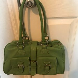 Limited satchel women bag green